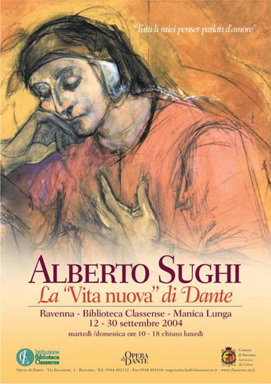 Alberto Sughi manifesto Mostra Dante a Ravenna