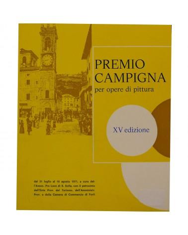 1971: Premio Campigna per opere di pittura - XV edizione