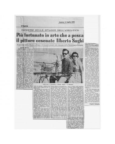 1956: Piu' fortunato in arte che a pesca il pittore cesenate Alberto Sughi