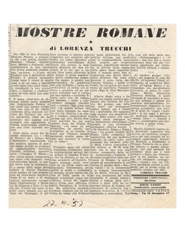 1957: Mostre Romane