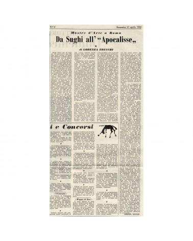 """1960: Mostre d'arte a Roma. Da Sughi all'""""Apocalisse"""""""