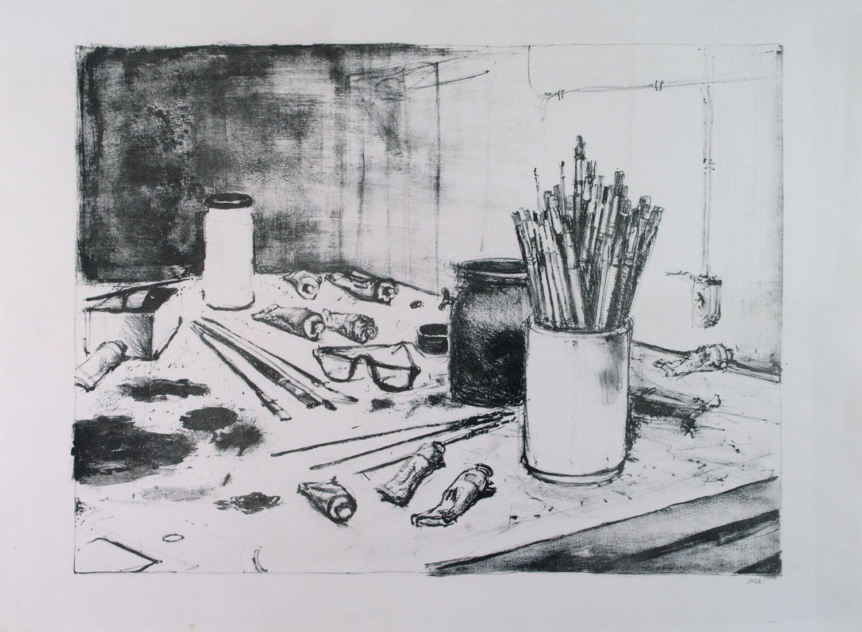 Alberto Sughi, La tavolozza del pittore