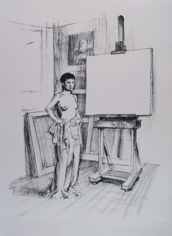 Alberto Sughi, La Modella nello Studio